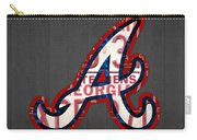 Atlanta Braves Baseball Team Vintage Logo Recycled Georgia License Plate Art Carry-all Pouch
