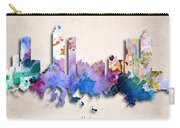 Atlanta Painted City Skyline Carry-all Pouch