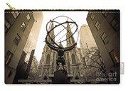 Atlas At Rockefeller Center Back Side Carry-all Pouch
