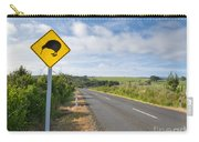 Attention Kiwi Crossing Roadsign At Nz Rural Road Carry-all Pouch