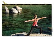 Attractive Woman Doing Yoga Carry-all Pouch