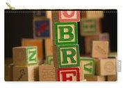 Aubrey - Alphabet Blocks Carry-all Pouch