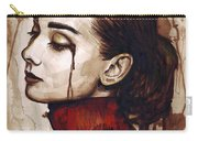 Audrey Hepburn - Quiet Sadness Carry-all Pouch by Olga Shvartsur