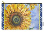 Audrey's Sunflower With Boarder Carry-all Pouch