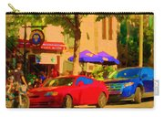 Aupres De Ma Blonde Resto Bar Terrasse Rue St Denis Montreal Cafe Street Scene Art Carole Spandau Carry-all Pouch