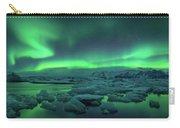 Aurora Borealis Above Jokulsarlon Carry-all Pouch