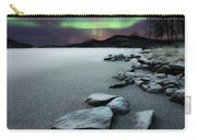 Aurora Borealis Over Sandvannet Lake Carry-all Pouch by Arild Heitmann