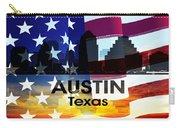 Austin Tx Patriotic Large Cityscape Carry-all Pouch