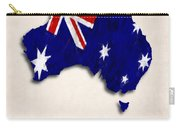 Australia Map Art With Flag Design Carry-all Pouch