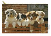 Australian Sheepdog Puppies Carry-all Pouch
