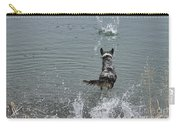 Australian Shepherd Fun At The Lake Chasing The Ball Carry-all Pouch