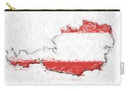 Austria Painted Flag Map Carry-all Pouch