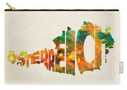 Austria Typographic Watercolor Map Carry-all Pouch by Inspirowl Design