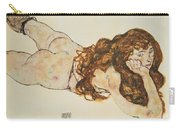 Austria Vienna Female Nude Lying On Her Stomach Carry-all Pouch