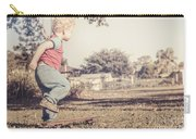 Authentic Faded Brown Vintage Skater Child Carry-all Pouch
