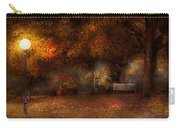 Autumn - A Park Bench Carry-all Pouch by Mike Savad