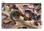 Autumn Acorn And Oak Leaves Carry-all Pouch by Jennie Marie Schell