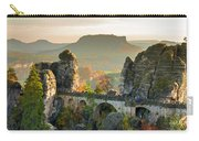 Autumn Afternoon On The Bastei Bridge Carry-all Pouch
