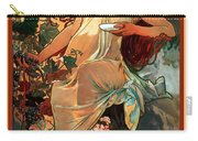 Autumn Carry-all Pouch by Alphonse Maria Mucha