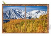 Autumn Aspen Tree Forest Barn Wood Picture Window Frame View Carry-all Pouch by James BO  Insogna
