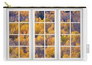 Autumn Aspen Trees White Picture Window View Carry-all Pouch