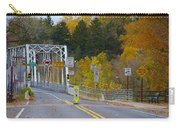 Autumn At Washington's Crossing Bridge Carry-all Pouch