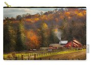 Autumn - Barn - The End Of A Season Carry-all Pouch by Mike Savad