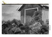 Autumn Barn - Upclose Cropped - Black And White Carry-all Pouch