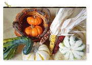 Autumn Basketful With Corn Carry-all Pouch