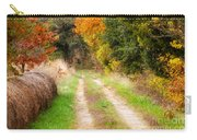 Autumn Beauty On Rural Dirt Road Carry-all Pouch