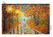Autumn Beauty Original Palette Knife Painting Carry-all Pouch