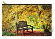 Autumn Bench In The Garden  Carry-all Pouch