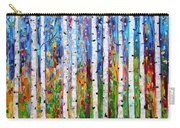 Autumn Birch Trees Abstract Carry-all Pouch