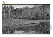 Autumn Black And White Carry-all Pouch