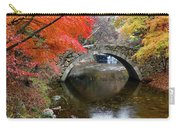 Autumn Color And Old Stone Arched Carry-all Pouch