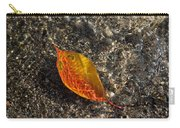 Autumn Colors And Playful Sunlight Patterns - Cherry Leaf Carry-all Pouch