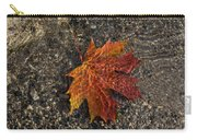 Autumn Colors And Playful Sunlight Patterns - Maple Leaf Carry-all Pouch