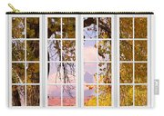 Autumn Cottonwood Tree Longs Peak White Window View Carry-all Pouch
