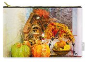 Autumn Display - Pumpkins On A Porch Carry-all Pouch