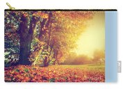 Autumn Fall Landscape In Park Carry-all Pouch