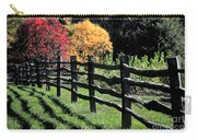 Autumn Fence And Shadows Carry-all Pouch