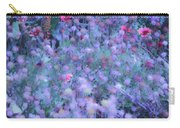 Autumn Flowers In Blue Carry-all Pouch