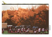 Autumn Football With Cutout Effect Carry-all Pouch