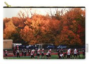 Autumn Football With Dry Brush Effect Carry-all Pouch