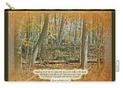 Autumn Forest - George Washington Carver Quote Carry-all Pouch