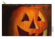 Autumn - Halloween - Jack-o-lantern  Carry-all Pouch by Mike Savad