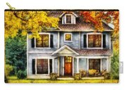 Autumn - House - Cottage  Carry-all Pouch by Mike Savad