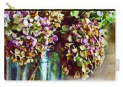 Autumn Hydrangeas Photoart With Verse Carry-all Pouch