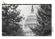 Autumn In The Us Capitol Bw Carry-all Pouch