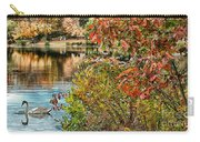 Autumn Lake And Swan Carry-all Pouch